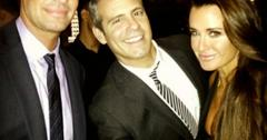 Jeff Lewis, Andy Cohen and Kyle Richards