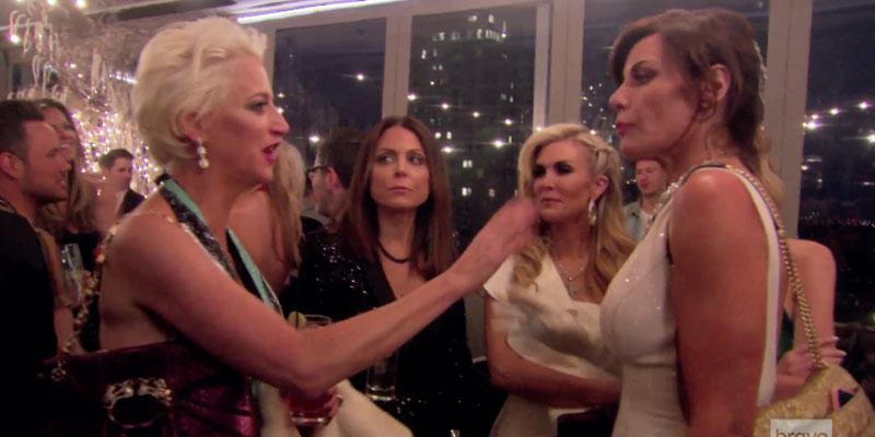 Rhony dorinda medley confronts luann de lesseps cabaret video pp