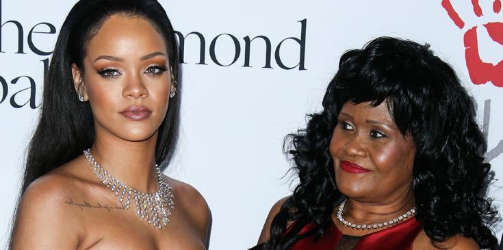 Rihanna and mother Monica Braithwaite arrive at the 2nd Annual Diamond Ball