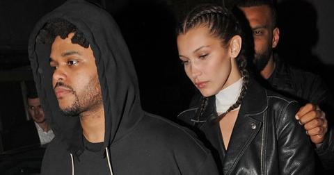 The weeknd bella hadid reunite coachella pda