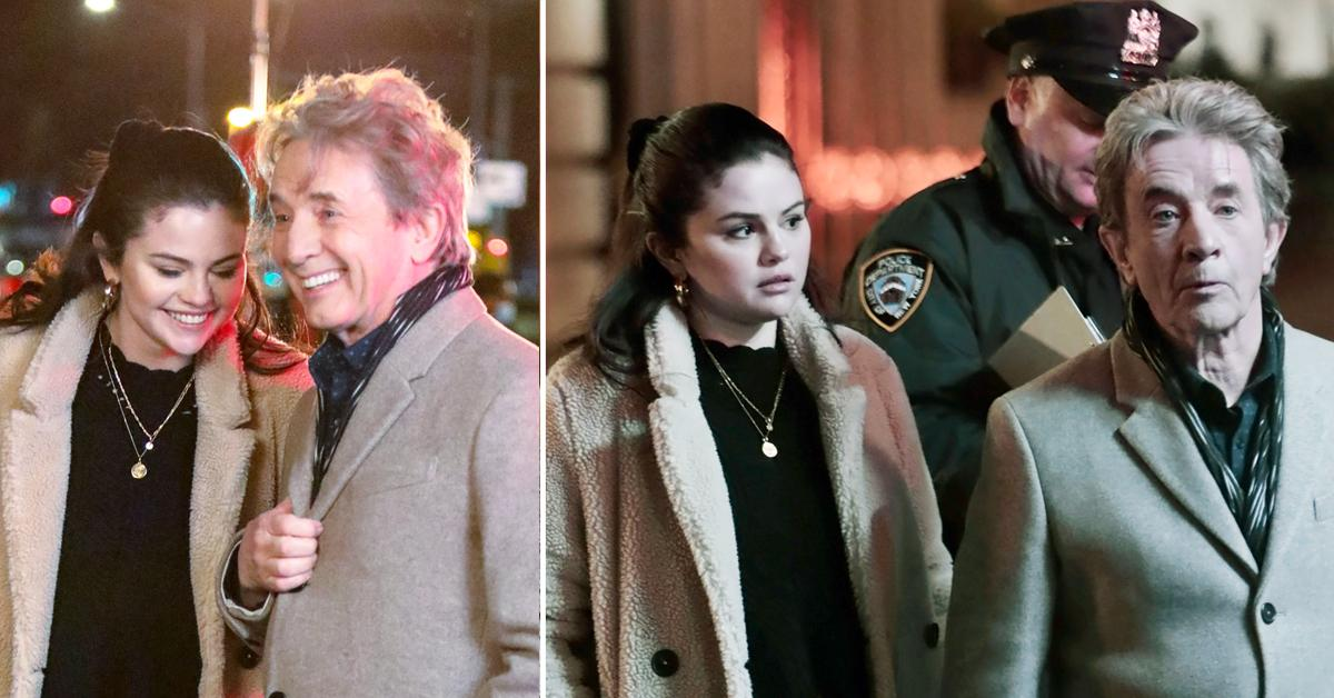 selena gomez martin short and steve martin filming only murders in the building okf