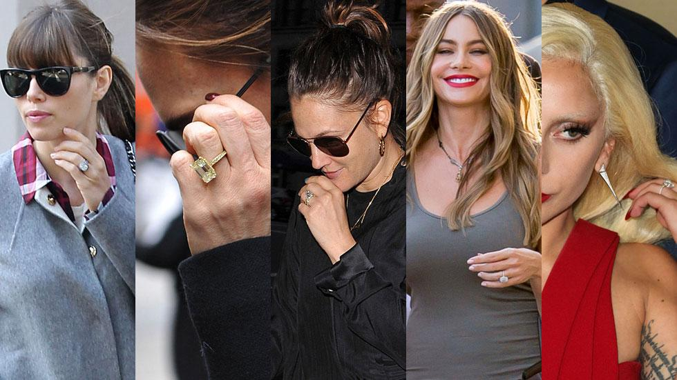 Celebrities biggest engagement rings