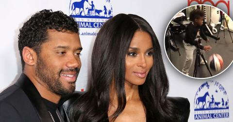 Ciara's Son Future Gets Basketball Lessons From Russell Wilson