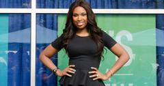 Jennifer Hudson wears a black peplum dress.