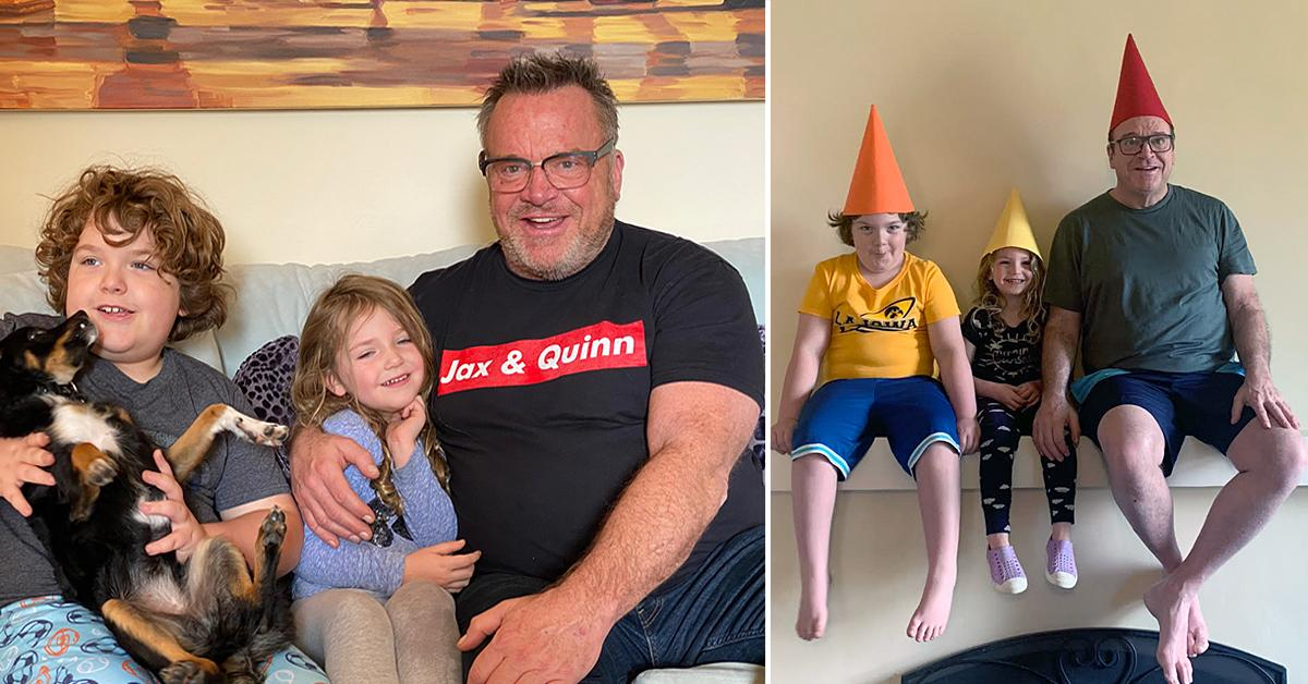 tom arnold with kids