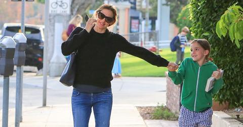Jennifer garner outing daughter