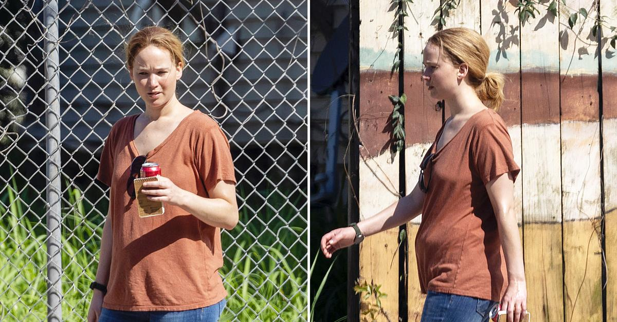 jennifer lawrence pregnancy rumors red white and water set