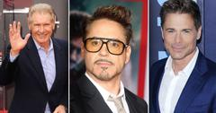 Harrison Ford, Robert Downy Jr, Rob Lowe