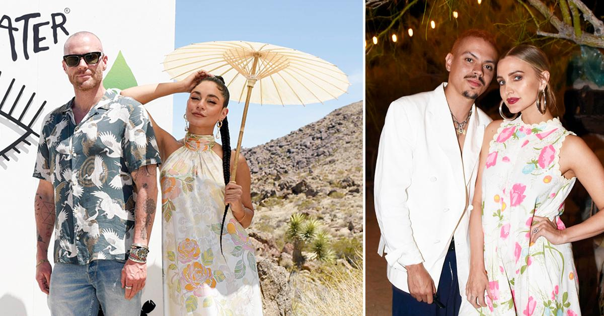 vanessa hudgens and oliver trevena host caliwater escape cactus beverage joshua tree