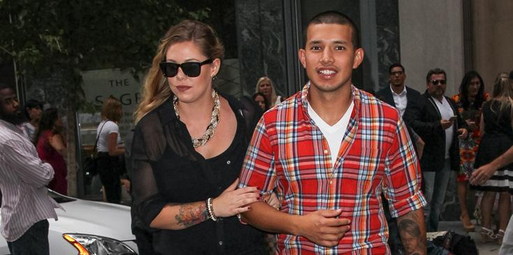 Kailyn Lowry and Javi Marroquin leaving fashion show in Soho