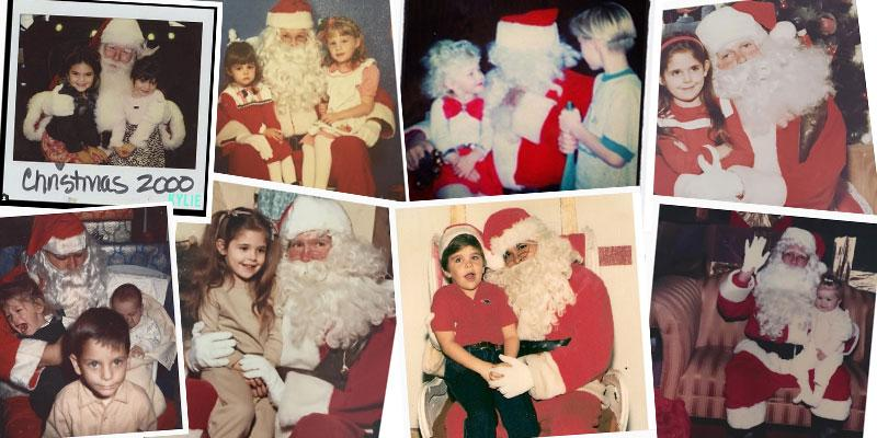 Celebrity throwback christmas santa photos ok pp