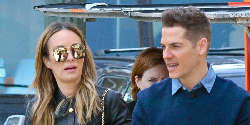*EXCLUSIVE* Catt Sadler and Jason Kennedy break for lunch off a food truck