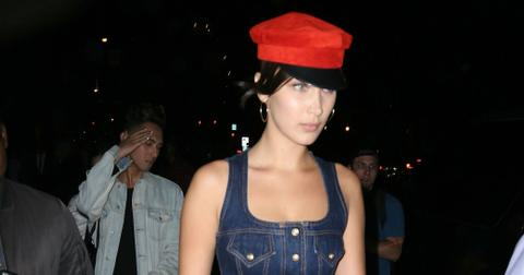 Bella Hadid Denim Dress New York Fashion Week Photos hero