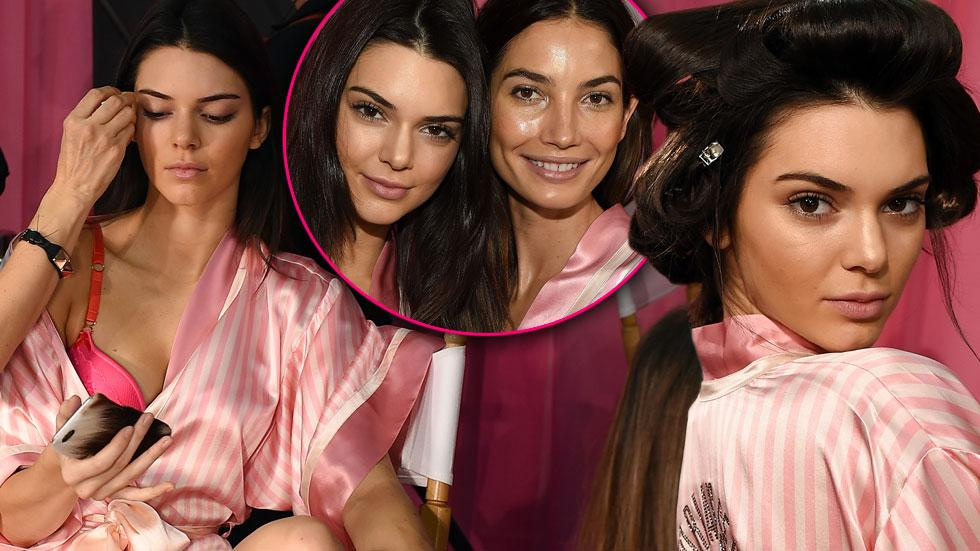 Victoria secret fashion show backstage gigi hadid kendall jenner nyc lily aldridge