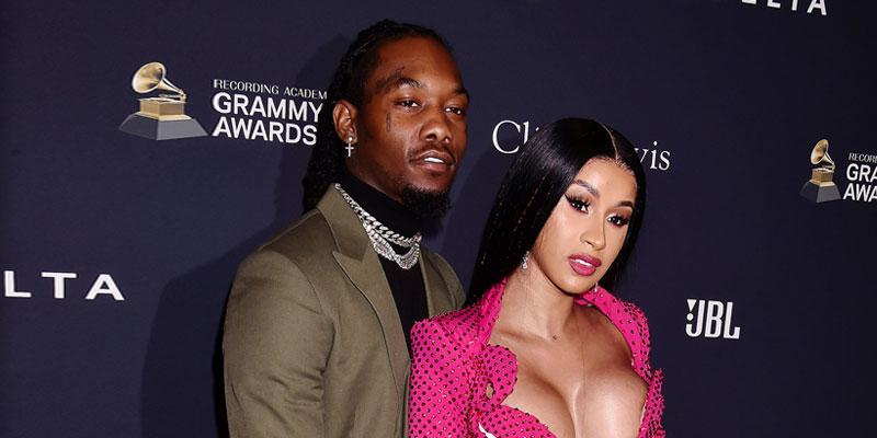 Cardi B and Offset kissing at Cardi's 28 birthday 1 month after split