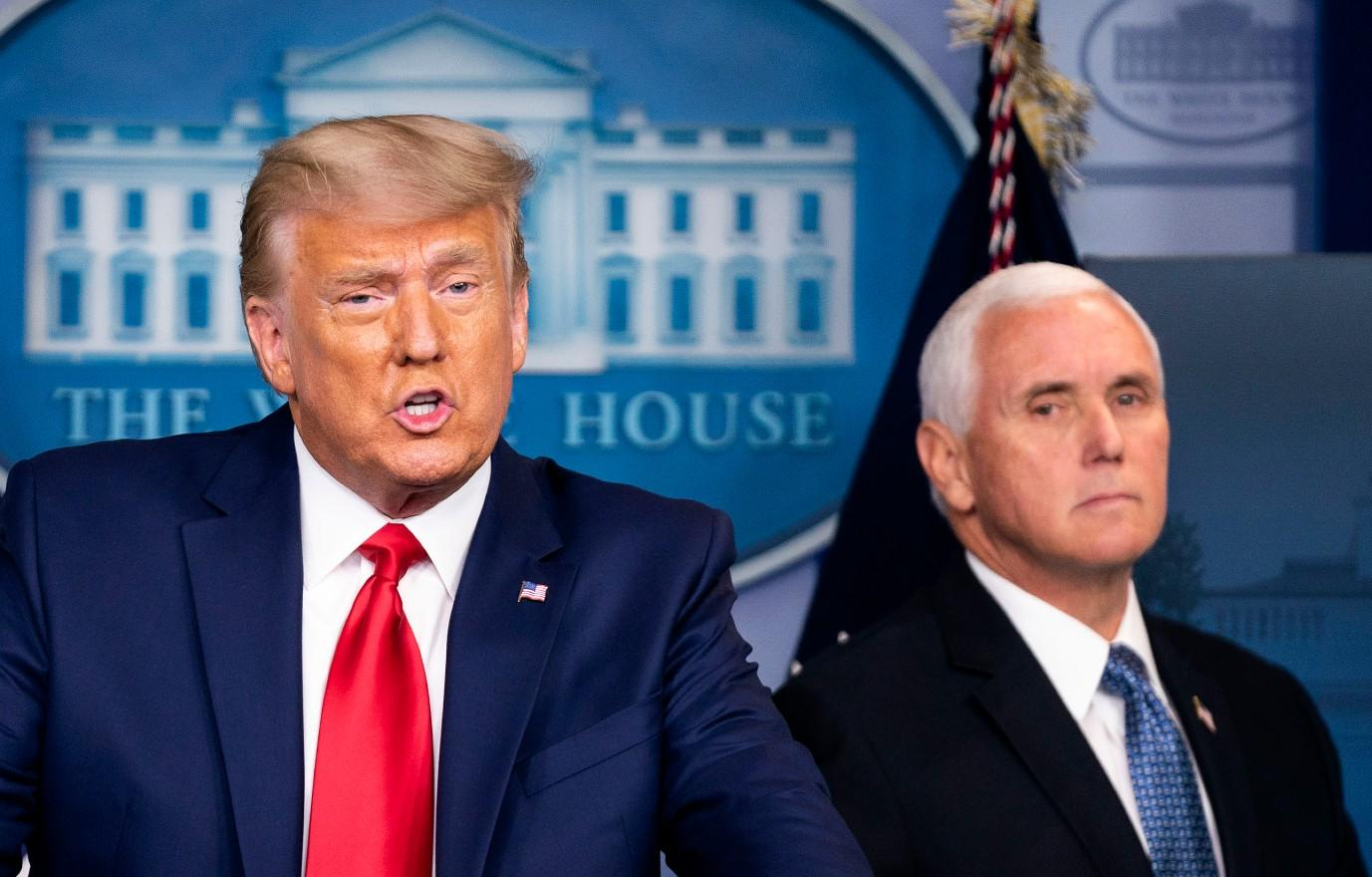 donald trump is reportedly furious mike pence book deal claims hes writing like crazy or like a crazy man washington politics publishing