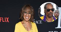 Gayle King On Red Carpet Snoop Dogg Inset