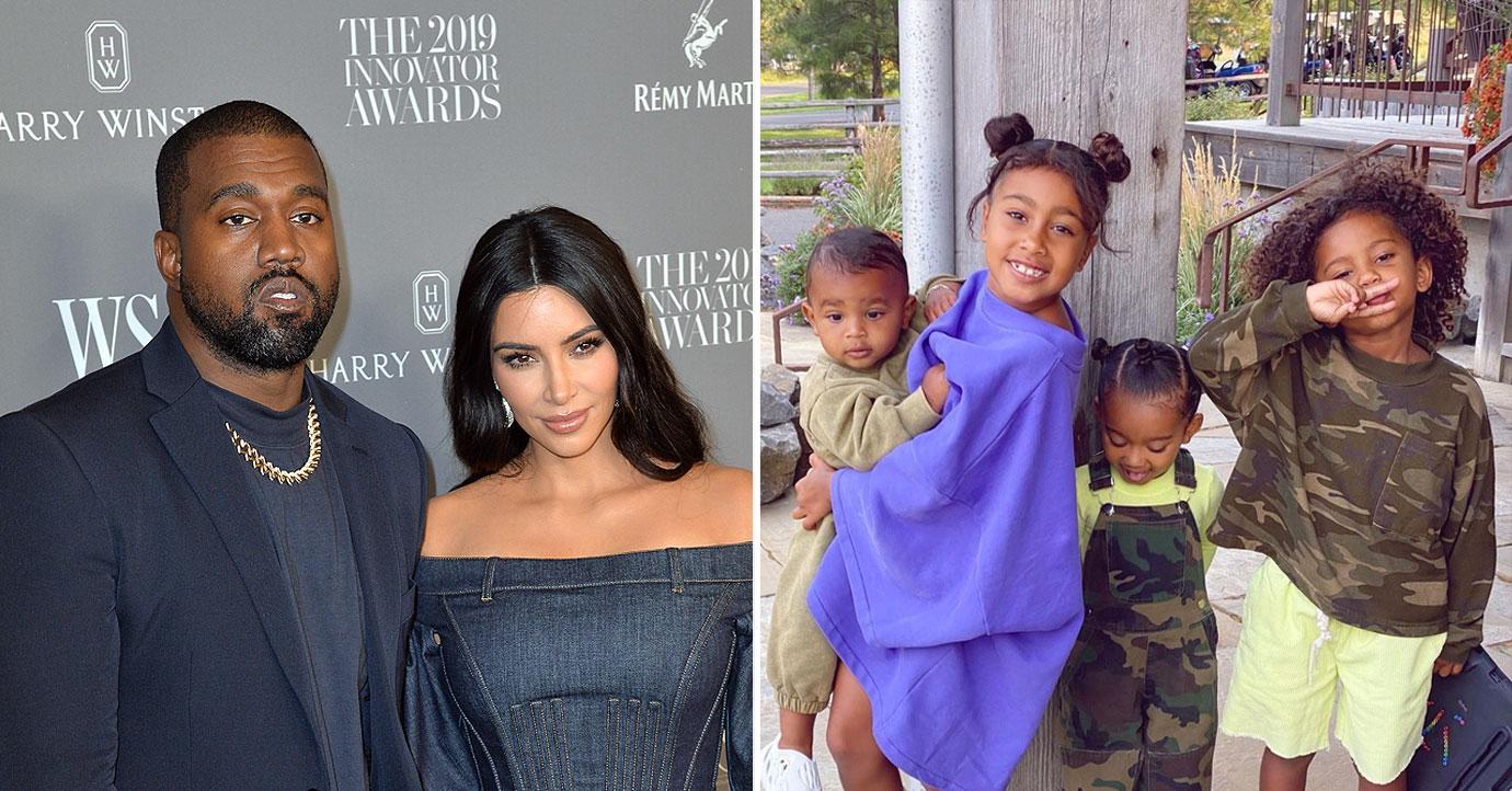 kuwtk kim kardashian kanye west kids dont know divorce drama pf