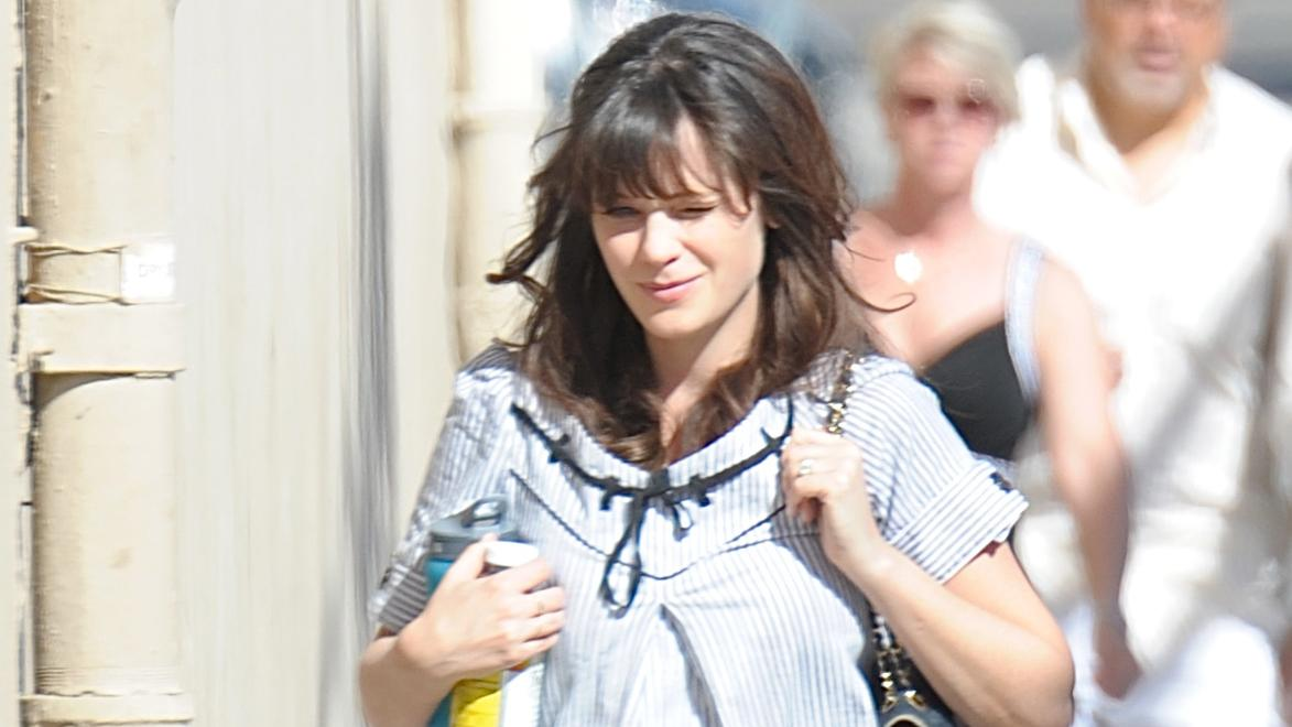 Zooey Deschanel arrives at 'Jimmy Kimmel Live!' taping in Hollywood, CA