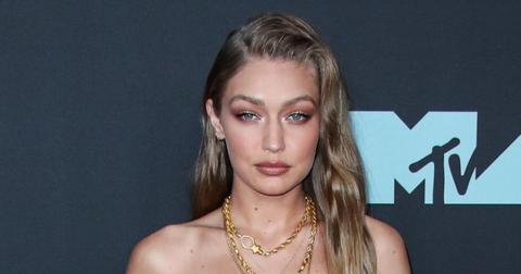 Gigi Hadid Wearing Beige Outfit At VMAs