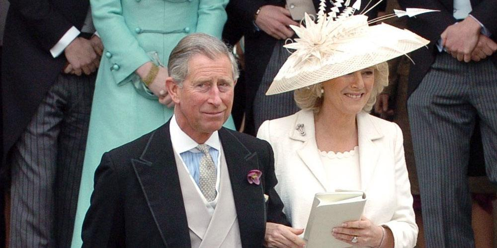 Prince Charles and Camilla Parker Bowles after their civil service wedding