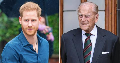 prince harry advised fly home goodbye prince philip