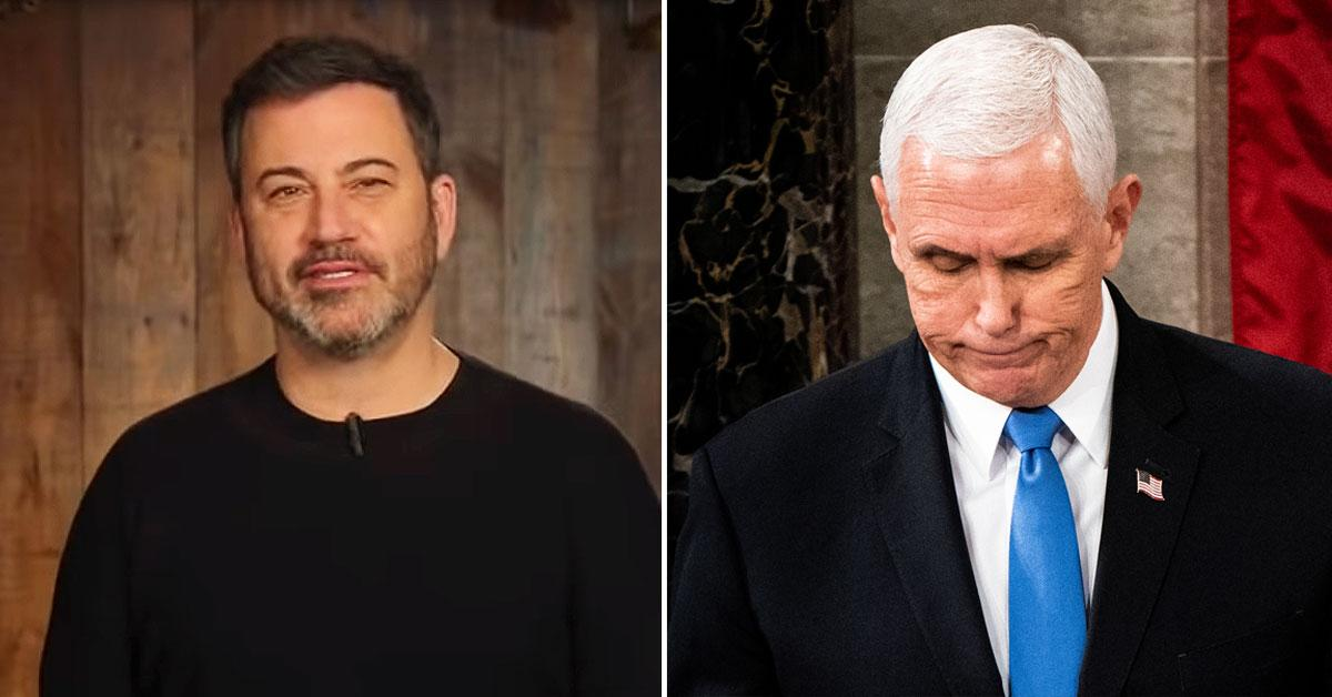 Jimmy Kimmel Roasts Mike Pence's Tricky Trump Situation