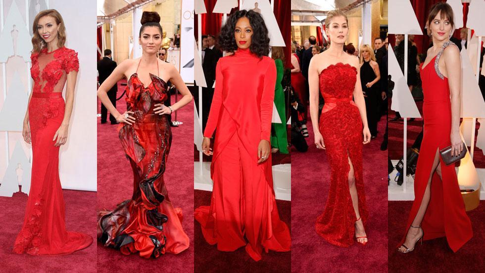 2015 Oscars women in red
