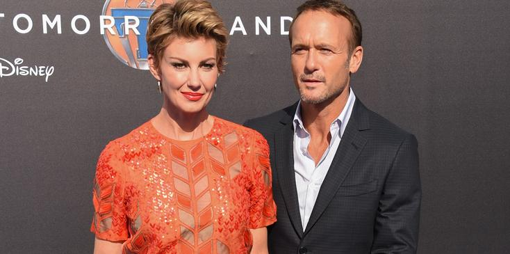Faith Hill and Tim McGraw arrive for the Los Angeles Premiere of 'Tomorrowland', held on Saturday, May 9 2015 at The AMC Downtown Disney 12 Theatre  in Anaheim, California