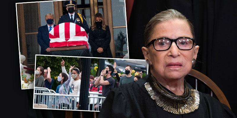 Donald Trump Booed At Ruth Bader Ginsburg's Memorial Service
