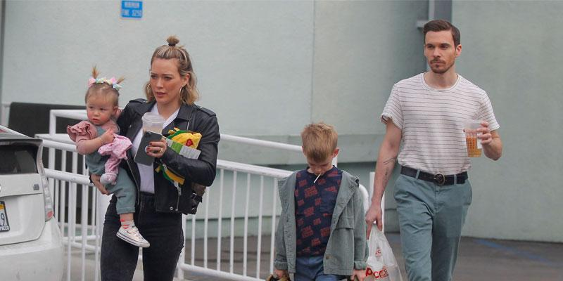 Hilary Duff & Matt Koma Enjoy A Day Out With The Kids