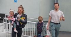 Hilary Duff & Matt Koma Enjoy A Day Out With The Kids