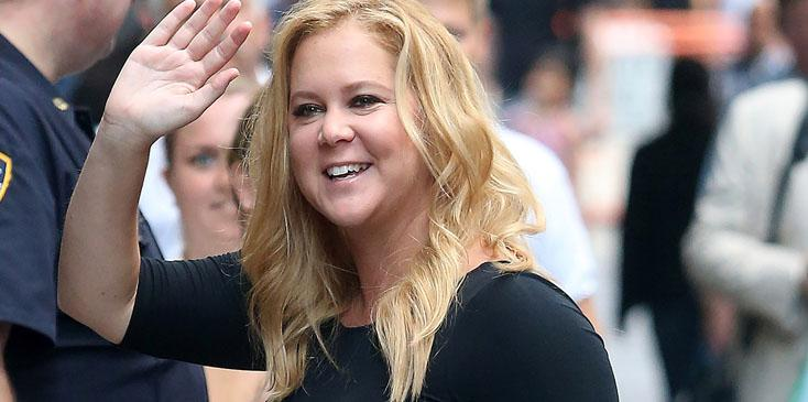 """Amy Schumer arriving at """"Good Morning America'"""" taping at the ABC Times Square Studio"""