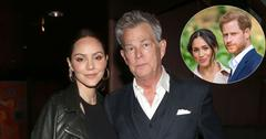 Katharine McPhee And David Foster Meghan Markle & Prince Harry Inset