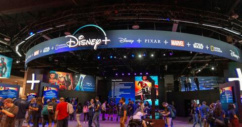 A Disney+ display.