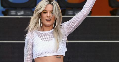Halsey white outfit today show pics