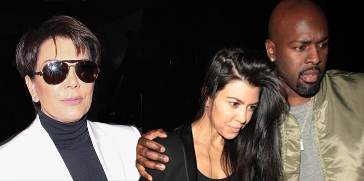 Kourtney kardashian kris jenner dumps corey gamble cheating
