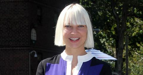 Sia Furler With Platinum Blonde hair