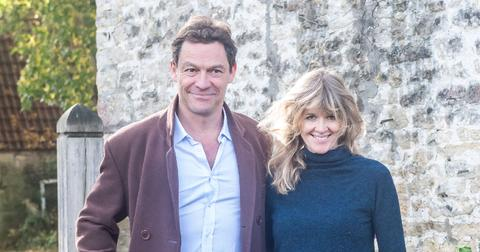 Dominic West and wife Catherine FitzGerald make a statement to press outside their Cotswolds home after Dominic was seen kissing actress Lily James whilst in Rome