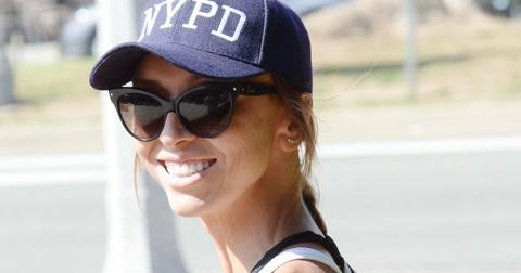 EXCLUSIVE: Fashion Police hostess Giuliana Rancic wearing an NYPD cap is spotted out and about in Brentwood, Ca with her husband Bill Rancic