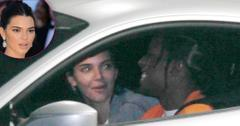 *EXCLUSIVE* Kendall Jenner and A$AP Rocky have a laugh at a gas station