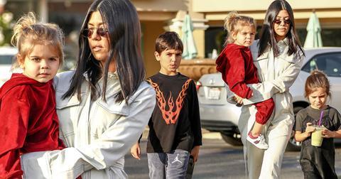 Kourtney kardashian takes kids out after christmas ok pp