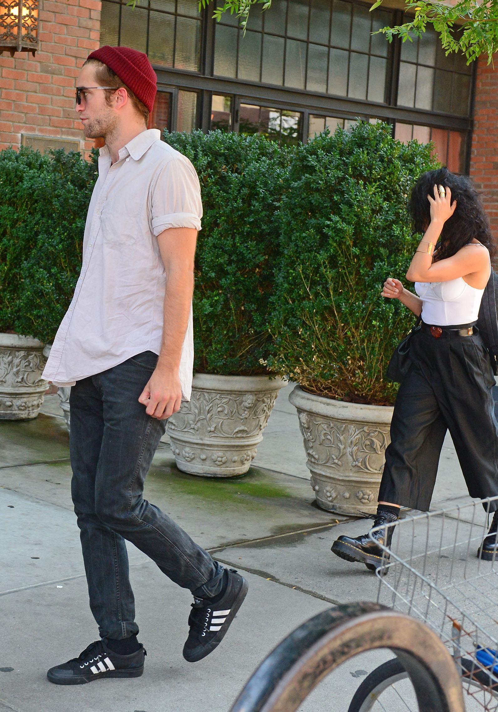Robert Pattinson with FKA Twigs in New York City