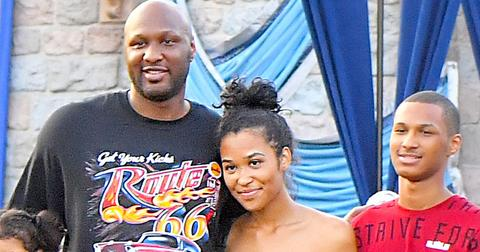 EXCLUSIVE: Lamar Odom looks happy and healthy as he spends the day at Disneyland with his Kids Destiny and Lamar Odom Jr