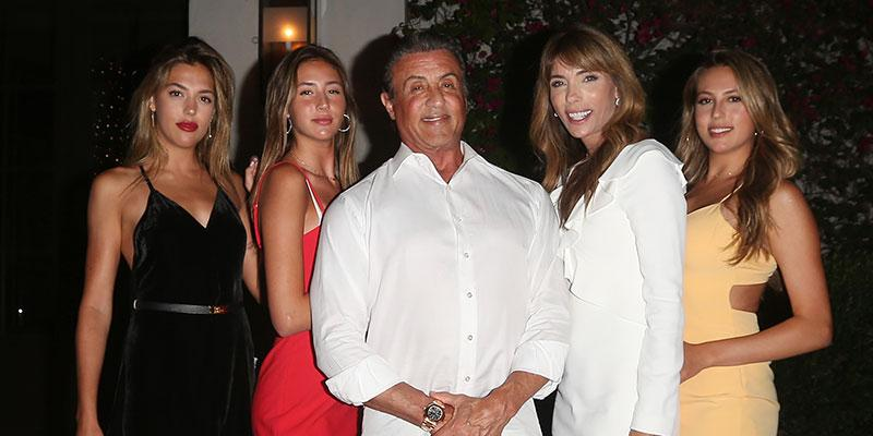Sylvester stallone wife 50th birthday three daughters main
