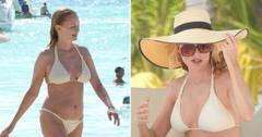 heather graham hits the beach in a white bikini pf