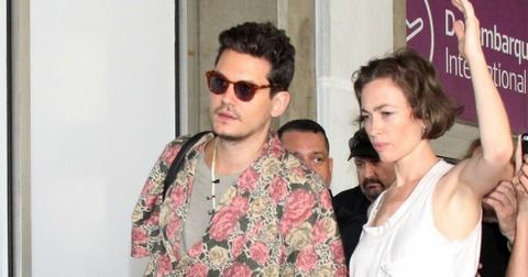 John Mayer Celebrates 40th Birthday Mystery Woman Photos hero