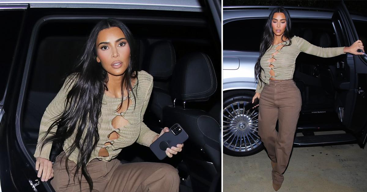 kim kardashian braless out to dinner okf