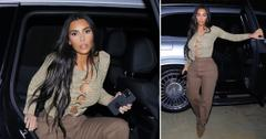 kim kardashian braless out to dinner okf