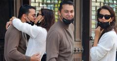 Katie Holmes and boyfriend Emilio Vitolo Jr. are all smiles as they continue another steamy make-out session outside his restaurant in NYC
